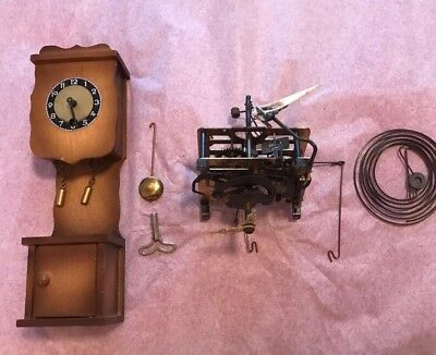 Lot Of Vintage Black Forest Germany Cuckoo Clock Mfg Co Parts Mechanism Spring