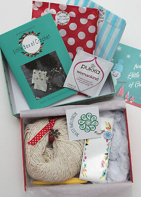 Little Box of Crochet No. 13 - December 2016 - Winter Wonderland Party Cuffs