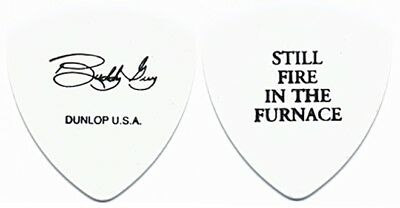 Buddy Guy  authentic 2003 tour signature Guitar Pick Still Fire in the Furnace