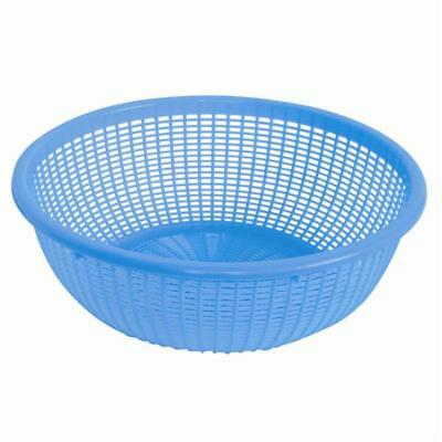 Thunder Group PLWB005, 8-Inch Round Plastic Colander without Handles, Blue