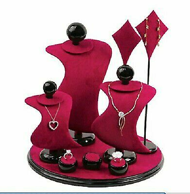 JEWELERS LEATHER JEWELRY DISPLAY SET Necklace ,Pendant, Earring STAND - NEW