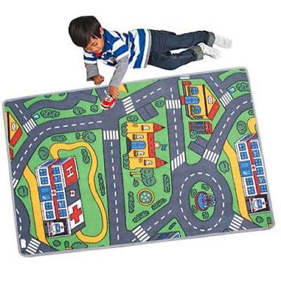 Childrens Kids Car Road City Town Circuit Play Mat Carpet Rug Toy Gift 120x80cm
