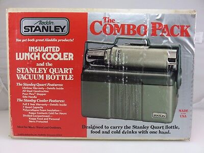 Stanley Aladdin Combo Insulated Lunchbox Cooler & Quart Vacuum Bottle UNUSED