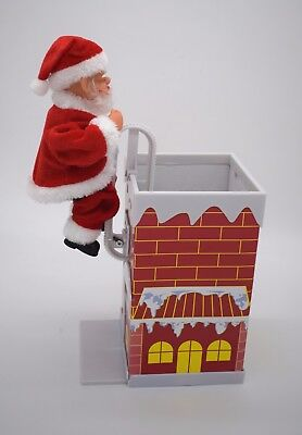 Electronic Moving Santa Climbing In Chimney Christmas Home Decoration Xmas Fun