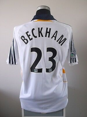 David BECKHAM #23 LA Galaxy Home Football Shirt Jersey 2008 (L)