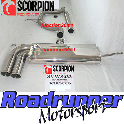 Scorpion SVWS033 Scirocco 2.0 TSI Stainless Exhaust Cat Back System Non-Res
