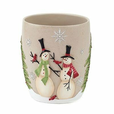 New Inb Box Christmas Holiday Tall Snowman Bathroom Tumbler Cup