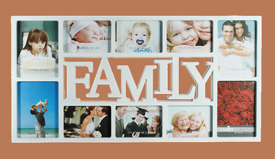 Plastic Family Picture 10 Photos Frame Hanging Picture Frame Memories White