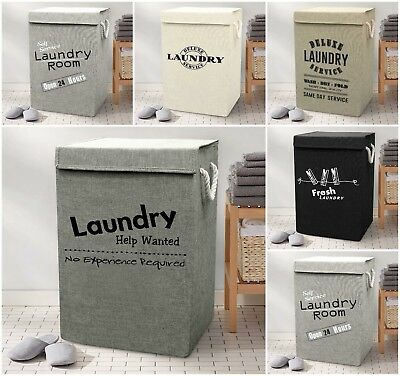 Large Laundry Basket Bin Foldable Strong Washing Clothes Hamper Room Tidy Pop Up