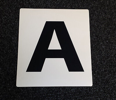 NEW SELF ADHESHIVE Dressage Arena Markers / Letters x 12 A B C E F H K M R S V P