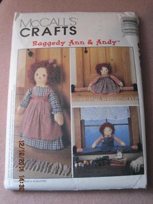 McCALL'S CRAFTS Raggedy Ann & Andy Sewing Pattern 8708 Orig. $10.25 1996 Unused