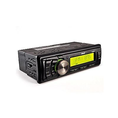 Pyle PLMR86B AM/FM-MPX Electronic Tunning Radio with USB/SD/MMC Black Color U...