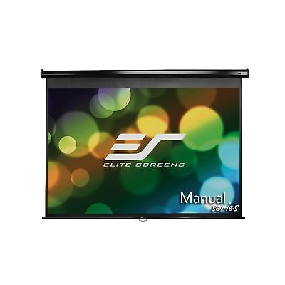 Elite Screens Manual 100-inch 4:3 Pull Down Projection Manual Projector Scree...