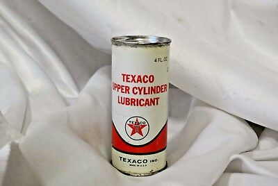Texaco Upper Cylinder Lubricant Tins FULL Texaco Inc. Metal Cans 1963 UNOPENED