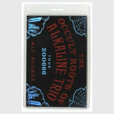 Alkaline Trio authentic 2006 concert Laminated Backstage Pass Occult Roots Tour