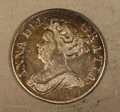 1711 Great Britain Shilling Nice Details Old Cleaning  ** FREE U.S. SHIPPING **