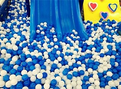 10pcs White Blue Ball Soft Plastic Ocean Ball Funny Baby Kid Swim Pit Toy 7cmNB