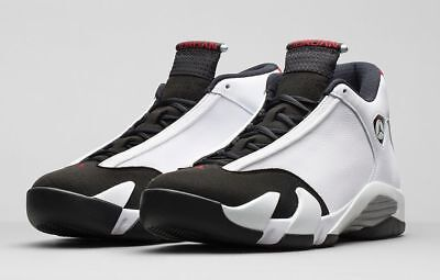 6f430227d8c93d NIKE AIR JORDAN 14 Retro Black Toe White Red Silver 487471-102 ...