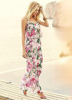 Floral Frill Maxi Dress from Kaleidoscope. Size 10