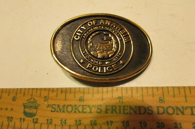 Vintage Brass Belt Buckle The Buckle Works City Of Anaheim-NEW