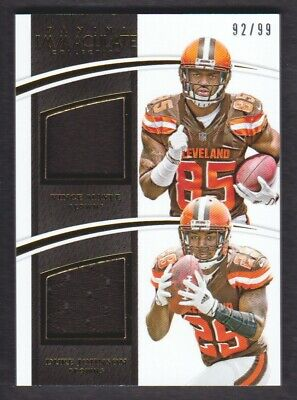 free shipping f7ce4 3c146 2015 IMMACULATE COLLECTION Dual Jersey #CLE Vince Mayle/Duke Johnson /99  Browns