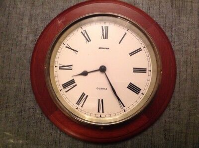 Vintage Staiger Wall Clock 285mm Working Large Flat Clock Glass Approx 200Mm