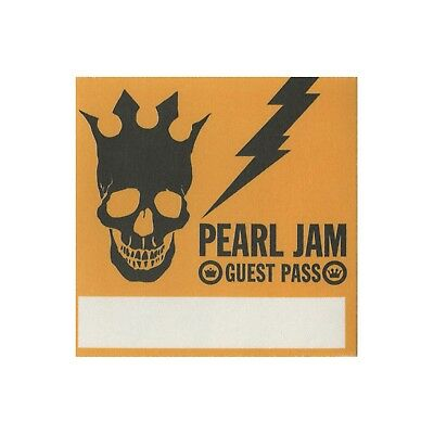 Pearl Jam Yellow Guest Backstage Pass 2003 Riot Act Tour