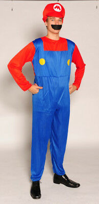 Super Mario Style Gents Fancy Dress Costume