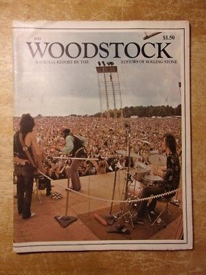 1969 WOODSTOCK A Special Report By The Editors Of Rolling Stone 64 pages