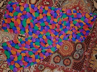 VINTAGE BRIGHT 1980s PRINT LONG SCARF EXCELLENT CONDITION