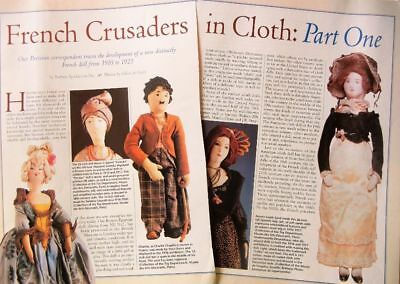 14p History Article + Pics - Antique 1910-1922 French Cloth Dolls - Raynal Venus