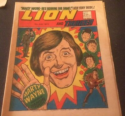 Lion and Thunder comic 7th July 1973-buy 2 Get 4 Free