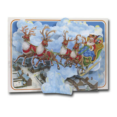 Father Christmas - Pictoria Press 3D Pop Up Greeting Card Santa Claus Decoration