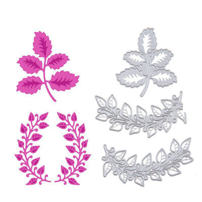 3pcs Lovely Embossing Stencil Metal Cutting Dies Scrapbook Cutting Tool-Leaf