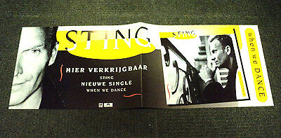 Sting Original Promo Shop Poster Dutch / Holland When We Dance 1994 The Police