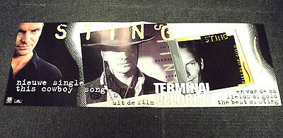 Sting Orig. Promo Shop Poster Dutch / Holland This Cowboy Song The Police 1999