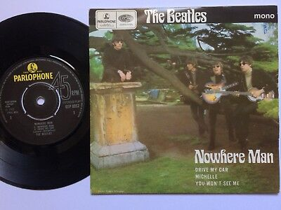 "THE BEATLES E.P.""NOWHERE MAN"".1980s PARLOPHONE REPRESSING+PICTURE COVER."