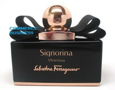 SALVATORE FERRAGAMO SIGNORINA MISTERIOSA EDP 100 ML PROFUMO SPRAY 3.4 OZ No Cap!
