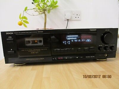 Denon DRM-800 3 Head  Deck Closed loop Dual Capstan Transport and New Belts