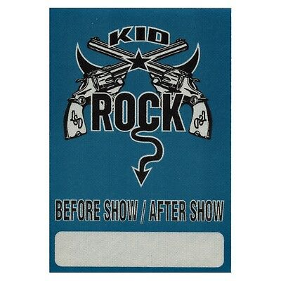 Kid Rock Authentic 1999 Between the Legs Tour satin cloth Backstage Pass