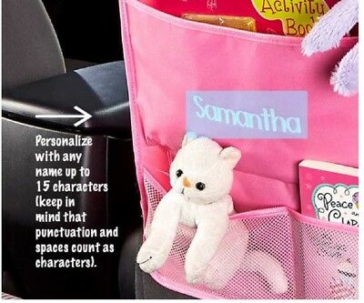 Personalized Car Activity Organizer Personalize To 15 Letters Hang From Headrest