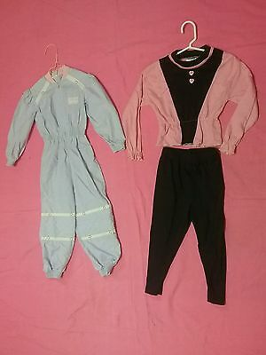 Vintage baby toddler dress pants lot 1970s spring  sz 2  3  girl outfit 3 pc