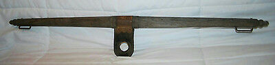 """Vintage 43"""" Antique Wooden Yoke Rustic Collar Harness With Leather Center Piece"""