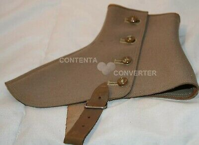 Antique Vintage Original O'connor & Goldberg Victorian Era Boot Covers Beige Tan