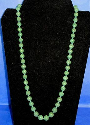 Authentic Antique Chinese Genuine Stunning Spinach Green Jade Necklace