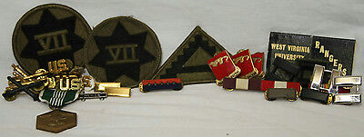 Lot Of Vintage Military Patches, Pins, Metals & Rangers Matchbooks