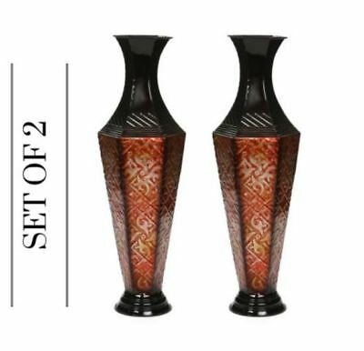 Metal Vase New Tall Floor Decor Decorative Large Home Office Spa