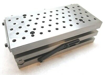 "NEW! PRECISION 12"" x 6"" COMPOUND SINE FIXTURE PLATE w/ THREADED HOLES"