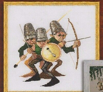 Guerre des Boutons (War of the Buttons) - fantasy cross stitch chart - Nimue