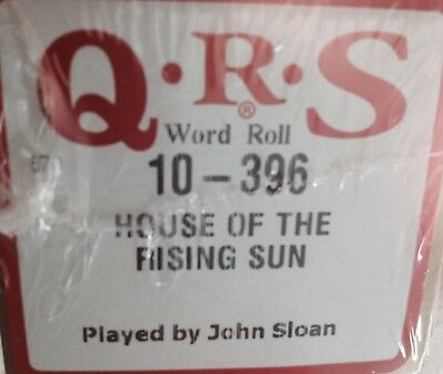 HOUSE OF THE RISING SUN The Animals  NEW RARE  PIANOLA PLAYER PIANO ROLL ROLL